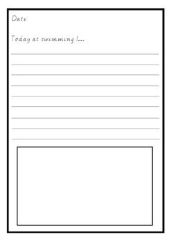 Recount Writing - Swimming Journal