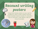 Recount Writing Wall Posters