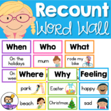Recount Writing Word Wall