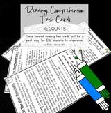Recounts Reading Comprehension Leveled Task Cards ESL