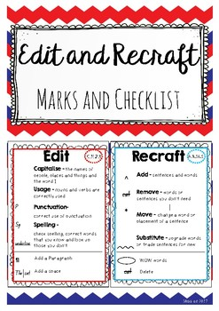 Recraft and Edit Checklist and Marks Cards