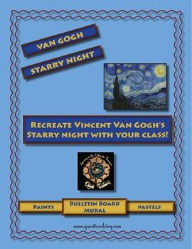 Recreate Van Gogh's Starry Night: Mural Project/Grid Art Lesson