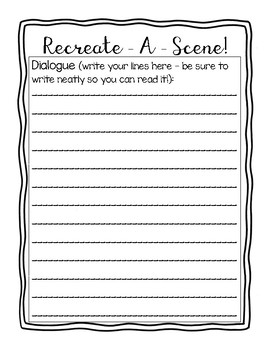Recreate a Scene Planning Sheet