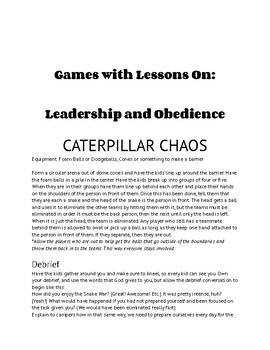 Recreation Games with Faith-Based Lessons