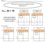 Recrire les calculs en colonnes et estimer la somme