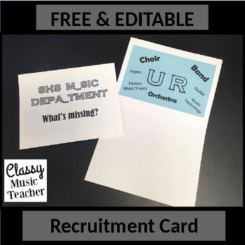 Recruitment Card