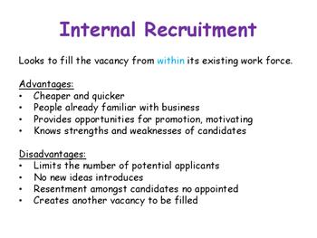 Recruitment Process - Growing as a Business - Internal & External Recruitment