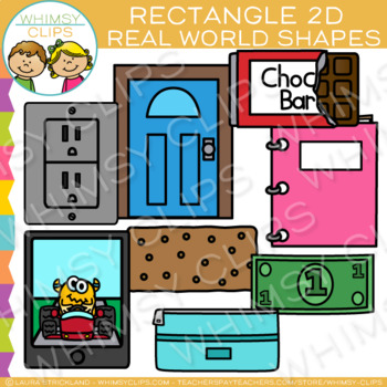be82b2e43a8 Rectangle Real Life Objects 2D Shapes Clip Art by Whimsy Clips