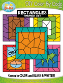 Rectangle 2D Shapes Color By Code Clipart {Zip-A-Dee-Doo-Dah Designs}