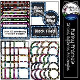 Rectangle Circle Square Frames Clipart