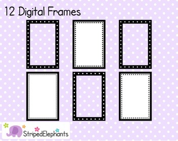 Rectangle Digital Frame Collection 2
