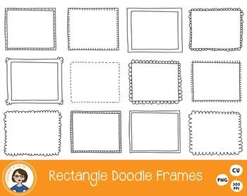 Rectangle Doodle Frames Clipart