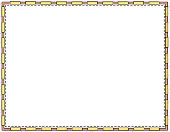 Rectangle Doodle Page Borders & Frames Mini-Set in Bubble Gum Colors
