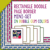 Rectangle Doodle Page Borders & Frames Mini-Set in Bubble