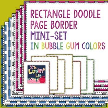 Rectangle Doodle Page Borders & Frames Mini-Set in Bubble