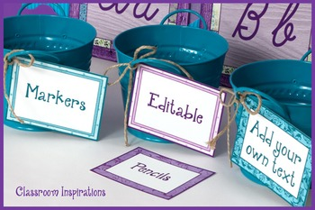 Rectangle Editable Multipurpose Labels – Coordinates with