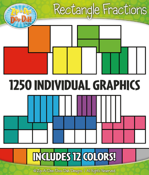 Rectangle Fractions Clipart Set – Includes 1250 Graphics!