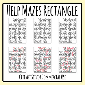 Rectangle Help Mazes Templates - Help The... Find Their... Mazes Commercial