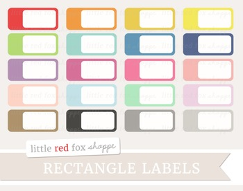 Rectangle Label Clipart; Sticker, Frame