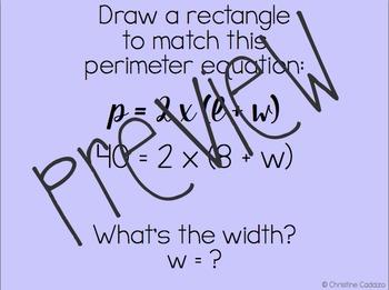 Rectangle Perimeter and Area Formulas