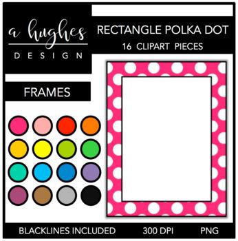 Rectangle Polka Dot Frames {A Hughes Design}