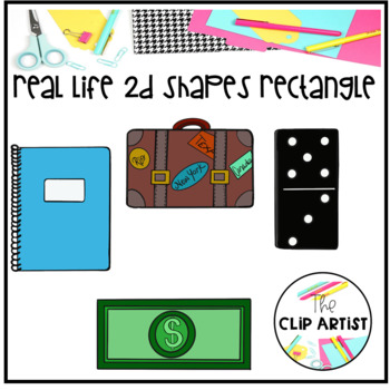 Rectangle Real Life Objects 2D Shapes Clip Art by The Clip ...
