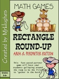 Finding Perimeter and Area of Rectangles {Rectangle Round-Up Game}