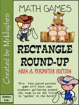 Finding Perimeter and Area of Rectangles {Rectangle Round-