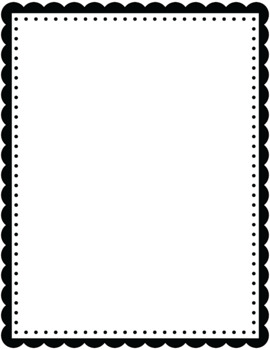 Rectangle Scalloped Borders And Frames Clip Art