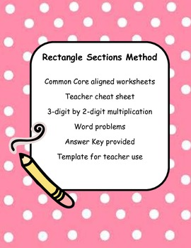Rectangle Sections Method Worksheets