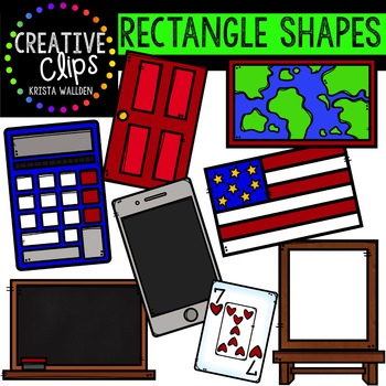 Rectangle Shapes {Creative Clips Digital Clipart}