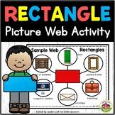 Rectangle Shape Picture Web Activity for Preschool