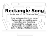 Rectangle Song with Outlined Rectangles to Color In