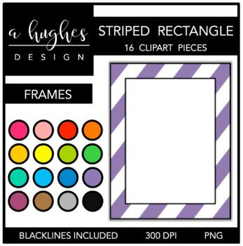 Rectangle Striped Frames {A Hughes Design}
