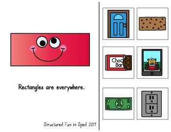 Adapted Book for Preschool, Pre-K and Special Needs (Rectangles)