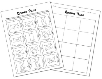 Properties of Rectangles Cut and Paste Puzzle
