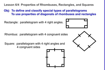 Rectangles, Rhombi, and Squares