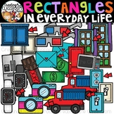 Rectangles in Everyday Life Clipart {Rectangles in real li
