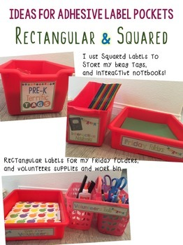Rectangular  AND Squared Label Pockets Templates from Target Bundle {{EDITABLE}}