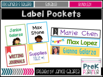Rectangular  AND Squared Label Pockets Templates from Targ