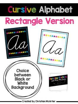 Rectangular Cursive Alphabet