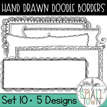 Rectangular Doodle Frames [Set 2] 20 Frames for Commercial Use
