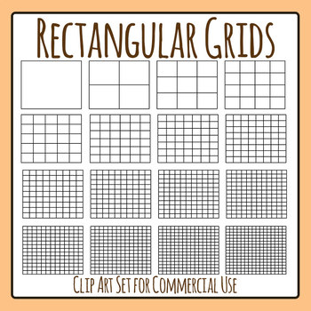 Rectangular Grids / Tables Templates Clip Art Set for Commercial Use