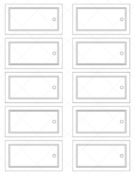 Rectangular Name Tags - Neutral Colors