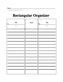 Rectangular Organizer