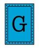 Rectangular Pennant/Word Wall with Polka Dot Borders - Blue
