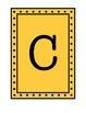 Rectangular Pennant/Word Wall with Polka Dot Borders - Yellow