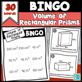 Rectangular Prism Volume Bingo