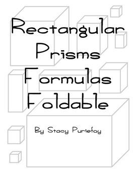 Rectangular Prisms Formulas Foldable