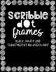 Rectangular Scribble Dot Frames {Educlips Clipart}